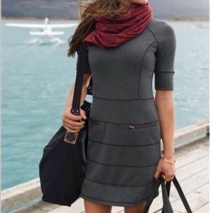 Athleta Strata Stretch Ponte Travel Gray Dress